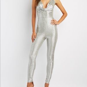 Sparkly Silver Jumpsuit